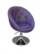 Fotel fryzjerski Lord fioletowy
