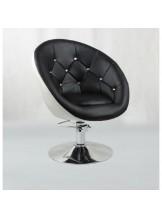 Fotel fryzjerski Lord - czarno-biały