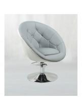 Fotel fryzjerski Lord - szaro-biały