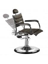 Fotel barberski Gabbiano Japan Style - ciemny brąz