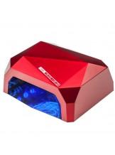 Lampa Diamond 2w1 UV LED+CCFL 36W TIimer + Sensor - czerwona