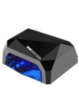 Lampa Diamond 2w1 UV LED+CCFL 36W TIimer + Sensor - czarna