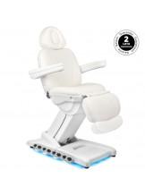 Fotel kosmetyczny Azurro 872 Exclusive z podgrzewaniem - biały