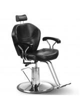 Fotel barberski Oliver - czarny