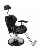 Fotel barberski Jack - czarny