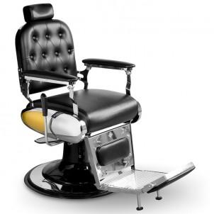 Fotel barberski Vincent - czarny