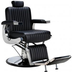 Fotel barberski Diego - czarny