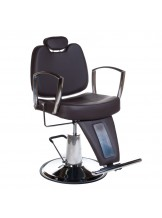 Fotel barberski Homer II BH-31275 - brązowy