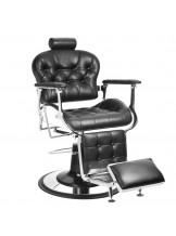 Fotel barberski Gabbiano Premier - czarny