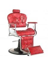 Fotel barberski Gabbiano Premier - czerwony