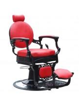 Fotel barberski Gabbiano President - czerwony