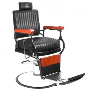 Fotel barberski Gabbiano Master - czarny