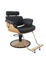 Fotel fryzjerski Gabbiano Florencja - czarny