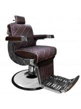 Fotel barberski Gabbiano Giuseppe - brązowy