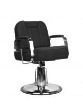 Fotel barberski Gabbiano Rufo - czarny
