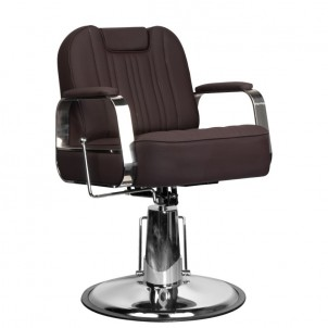 Fotel barberski Gabbiano Rufo - brązowy