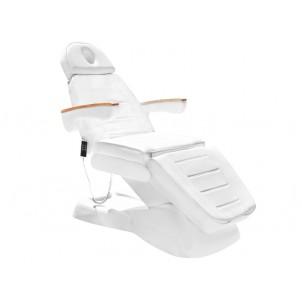 Fotel kosmetyczny Lux biały (elektryczny)