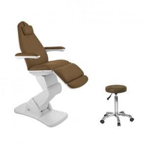 Fotel kosmetyczny 2244 brąz (elektryczny)