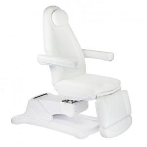 Fotel kosmetyczny elektryczny Mazaro BR-6672 Biały