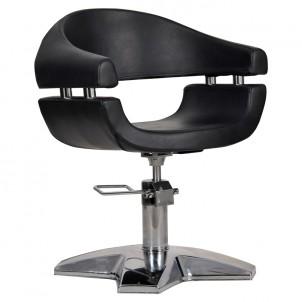 Fotel fryzjerski Gamma - czarny
