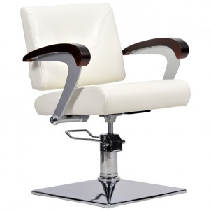 Fotel fryzjerski Kubik - beż