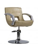 Fotel fryzjerski Roma - złoty krokodyl