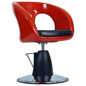 Fotel fryzjerski Ovo - czerwony
