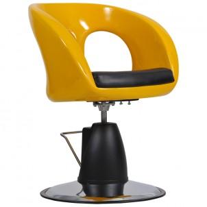 Fotel fryzjerski Ovo - żółty