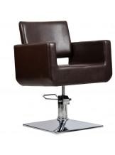 Fotel fryzjerski Bell - brąz