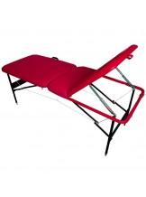 Stół do masażu Komfort Stal AT-002 - czerwony