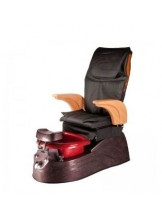Fotel Pedicure Spa Aruba Czarny z regulacją pilotem