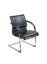 BX-3339B Krzesło konferencyjne / do poczekalni - czarne