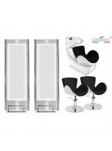 Zestaw fryzjerski Gabbiano Q-003 - czarno-biały