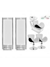 Zestaw fryzjerski Gabbiano Q-003 - biało-czarny