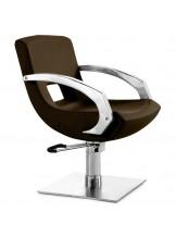 Fotel fryzjerski Q-3111 - brązowy