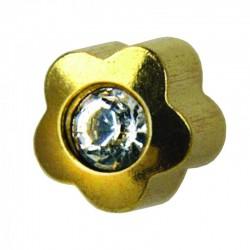 Kolczyk 508 złoty crystal