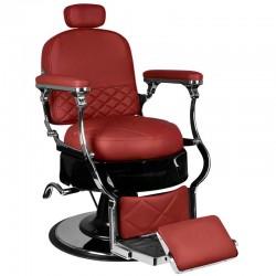 Fotel barberski Vito - bordowy
