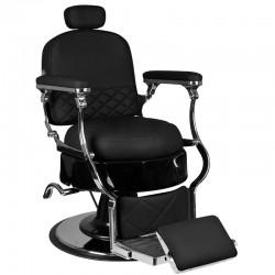 Fotel barberski Vito - czarny