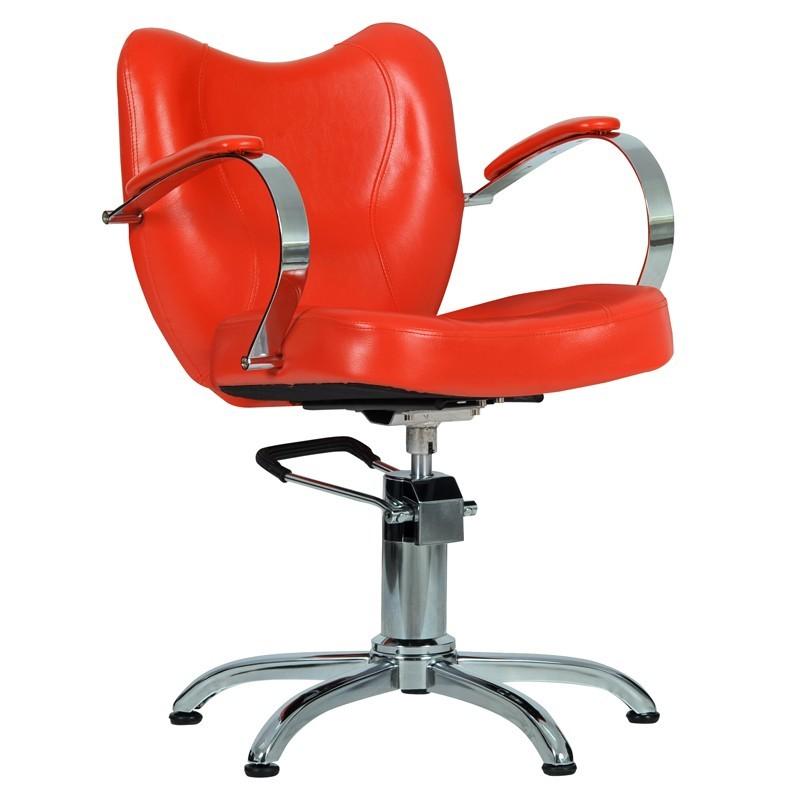 Fotel Fryzjerski Retro Czerwony