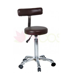 Taboret z oparciem Boss Brown