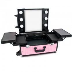 Kufer Glamour 9552 różowy
