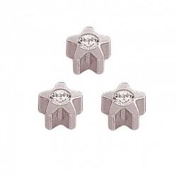 Kolczyk 501 srebrny crystal